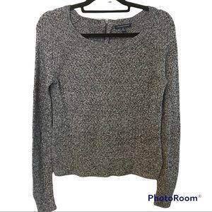American Eagle Gray Knit Pullover Sweater Small
